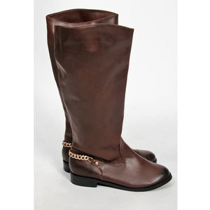 NEW H&M Chocolate Brown Knee High Boots-Size 37